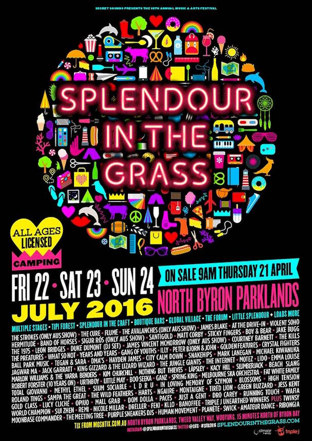 Splendour in the Grass 2016 - poster - acid stag