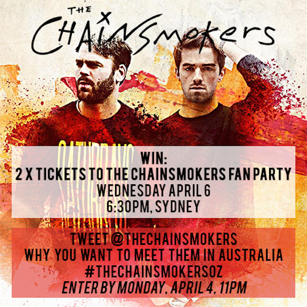 The Chainsmokers - Aussie Tour - acid stag