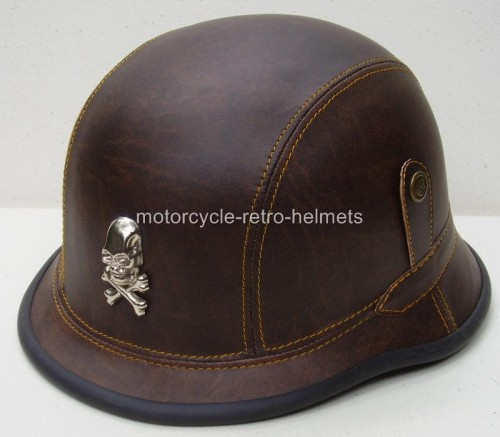 Leder Reinigen Motorcycle Helmet German 2nd War Skull Nazi Ww2 Vintage