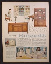 Magazine Ad for Bassett Furniture, Hutch, Shelves, Bedroom ...
