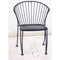 Used Outdoor Dining Patio Seating Black Metal Chair - SKU ...
