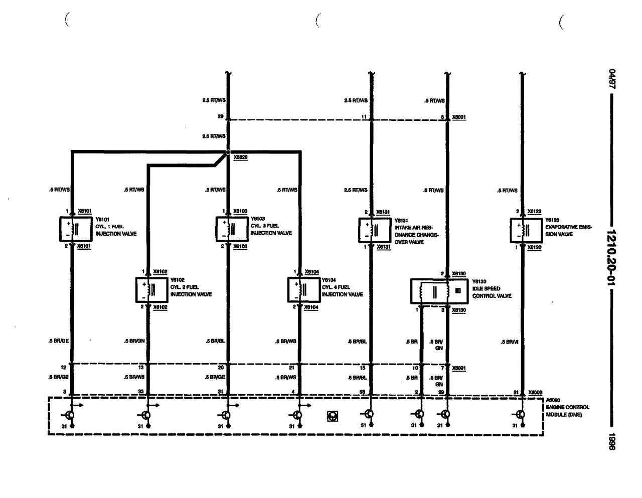 1991 bmw 318is bedradings schema