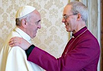 Pope Francis and Archbishop Welby June 2014