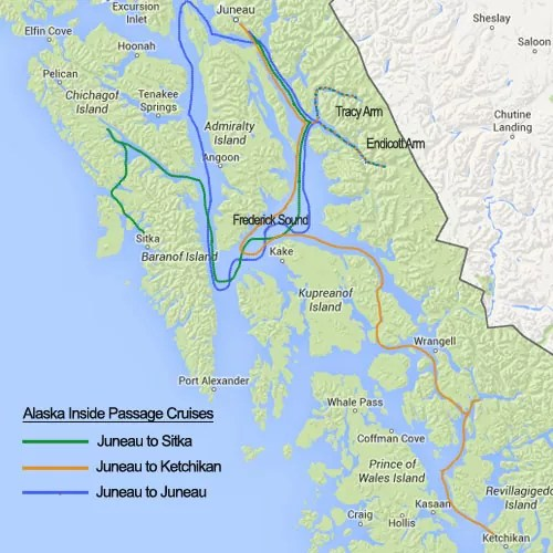 Alaska Inside Passage Cruise Itinerary Southern Explorer Juneau to