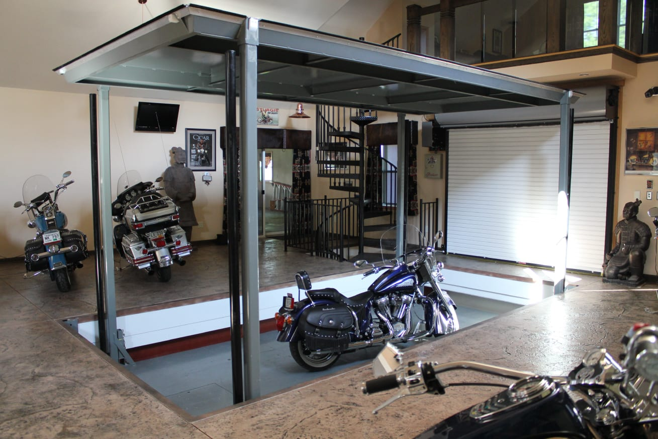 Garage Car Lift For Storage Phantompark Subterranean Parking Lift American Custom Lifts
