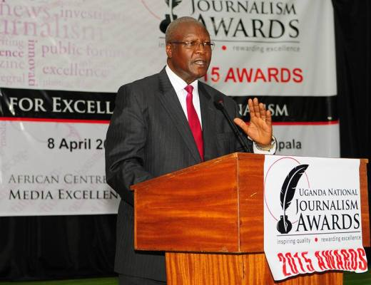 Chief Justice Bart Katureebe at the Uganda National Journalism Awards 2015