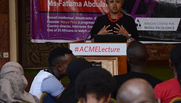 ACME in the news: Africans too patient with politicians – Somali activist