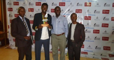 Three Radio Pacis journalists honored at the 2015 Uganda National Journalism Awards gala