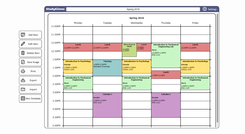 college schedule maker free