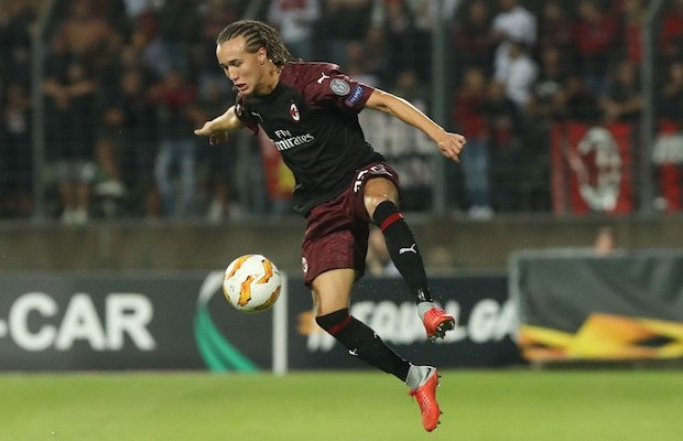 Diego Laxalt (AC Milan) during the UEFA Europa League, Group F football match between F91 Dudelange and AC Milan on September 20, 2018 at Josy Barthel stadium in Dudelange, Luxembourg - Photo Laurent Lairys / DPPI