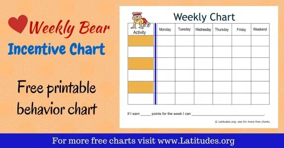 FREE Printable Behavior Charts for Teachers \ Students (7th Grade - printable behavior chart