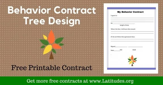 FREE Printable Behavior Contracts for Students ACN Latitudes - sample behavior contract
