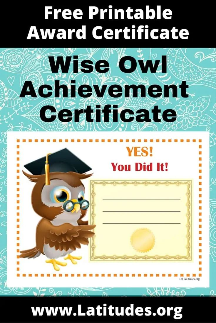 certificate achievement