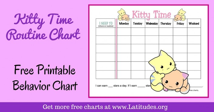 FREE Printable Behavior Charts for Home and School ACN Latitudes - printable behavior chart
