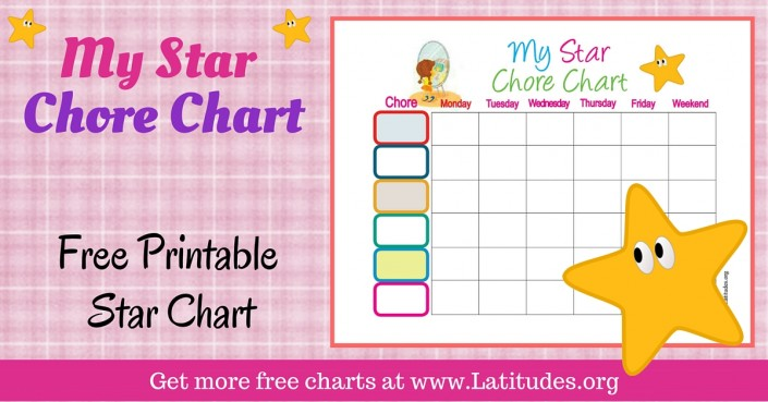 FREE Printable Behavior Charts for Home and School ACN Latitudes - progress chart for kids