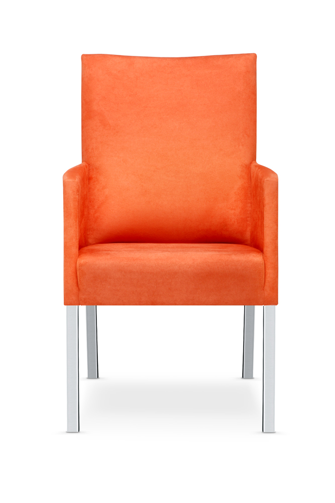 Tutti armchair with a high backrest front