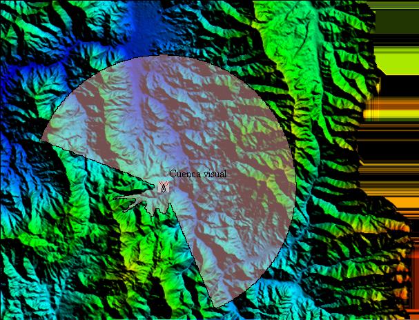 Cuencas visuales con Global Mapper