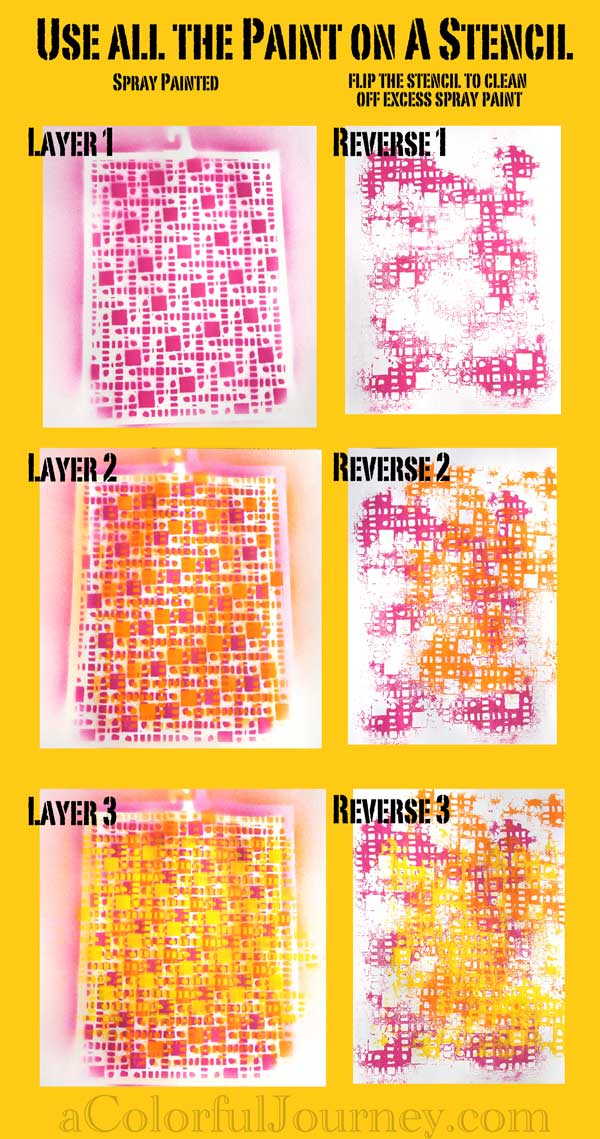 Using All the Spray Paint on a Stencil for Pattern Play