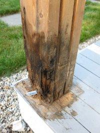 Replacing A Wood Porch Post