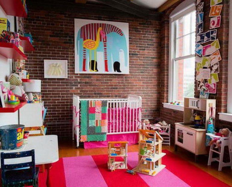 decoração colorida de quarto