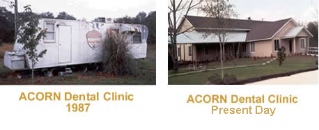 ACORN Dental Clinic in 1987 and today