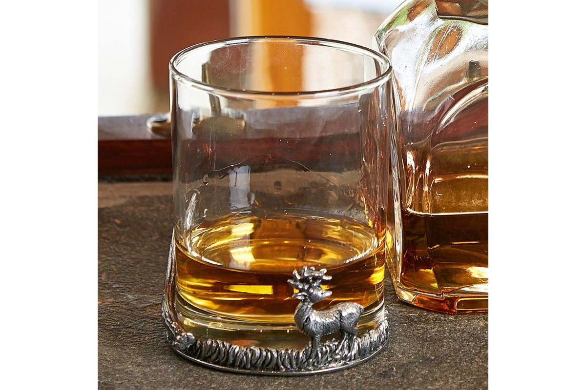 Wisky Glas Stag Whisky Glass Acorn Saddlery Master Saddlers And Supplier