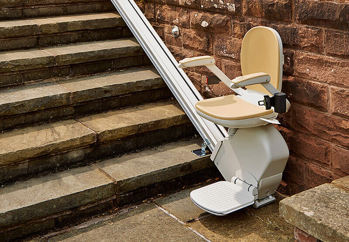 Outside Stairs Outdoor Stairlifts Costs Installation Acorn Stairlifts