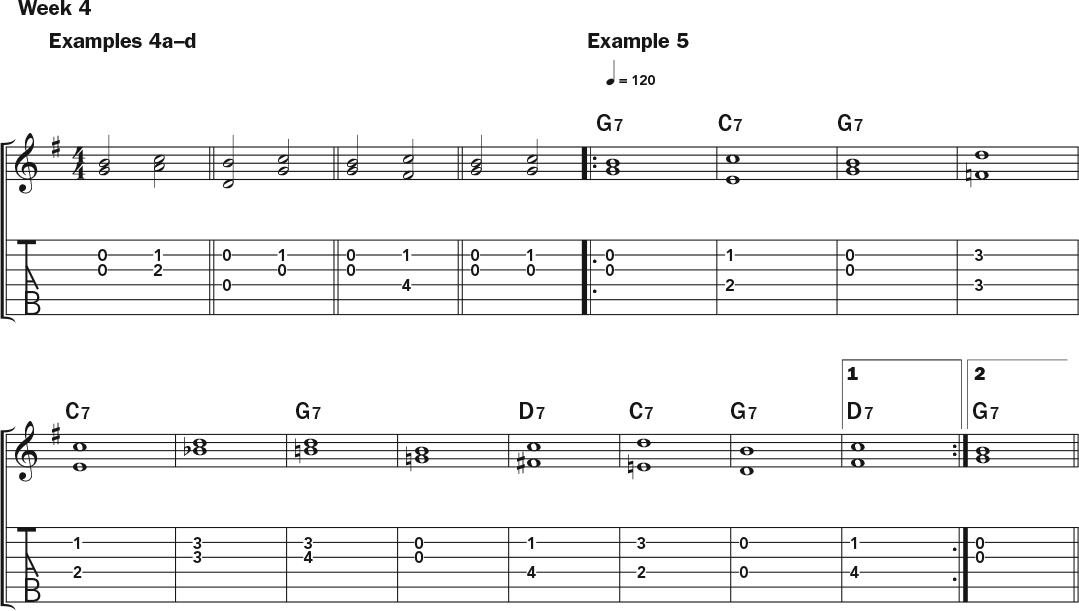 Weekly Workout Using Horizontal Harmonies To Express Chord Changes