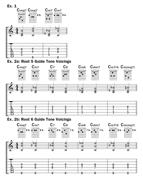 Guide Tone Voicings – Acoustic Guitar