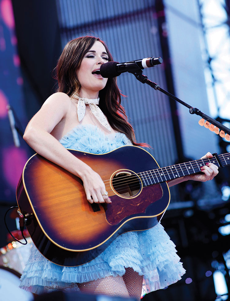 Kacey Musgraves performing at Farm Aid 2015 (photo by Paul Natkin)