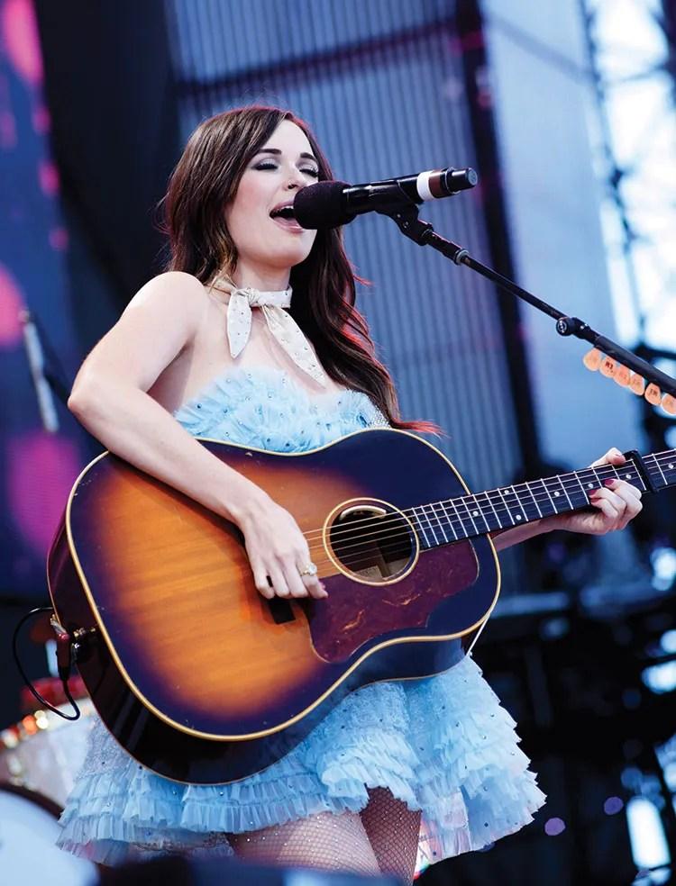 Kacey Musgraves performing at Farm Aid 2015 (photo by Paul Natkin)