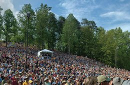 The hillside at MerleFest 2015, during the Album Hour. (photo by Jacob Caudill)