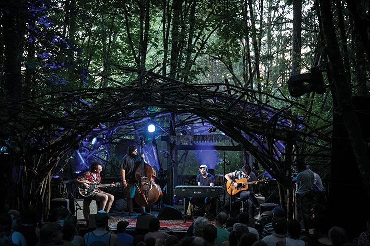 The Woods Stage at Pickathon 2015 (photo by Dylan Wanweelden)