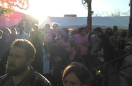 Fans in enraptured around dusk.