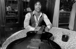 Prince Early Publicity Photo with Gibson L Model