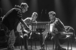 John Zorn, Gyan Riley , and Julian Lage Photo c. Armin Smailovic