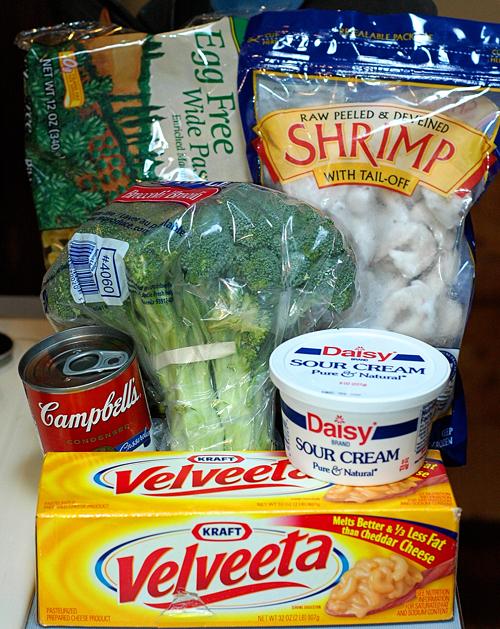 Shrimp Stroganoff Ingredients