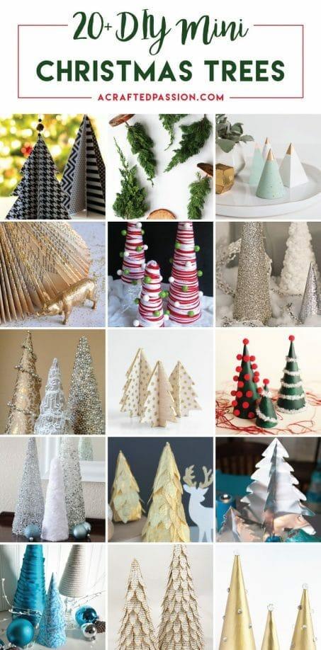 20+ DIY Mini Christmas Tree Decor Ideas - mini christmas tree decorations