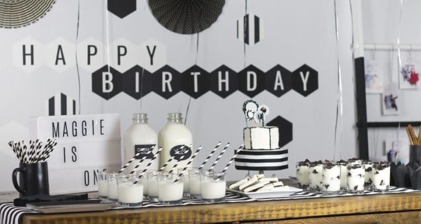 Black and White Birthday Party A Fun First Birthday Bash!