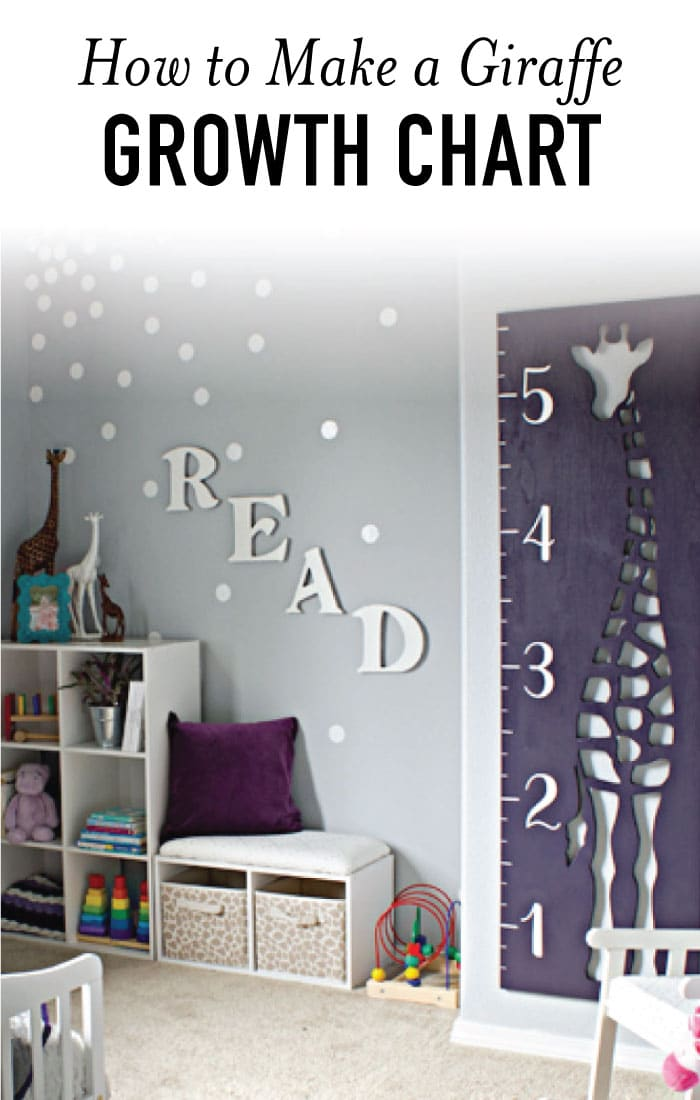 How to Make a Giraffe Growth Chart with Wood