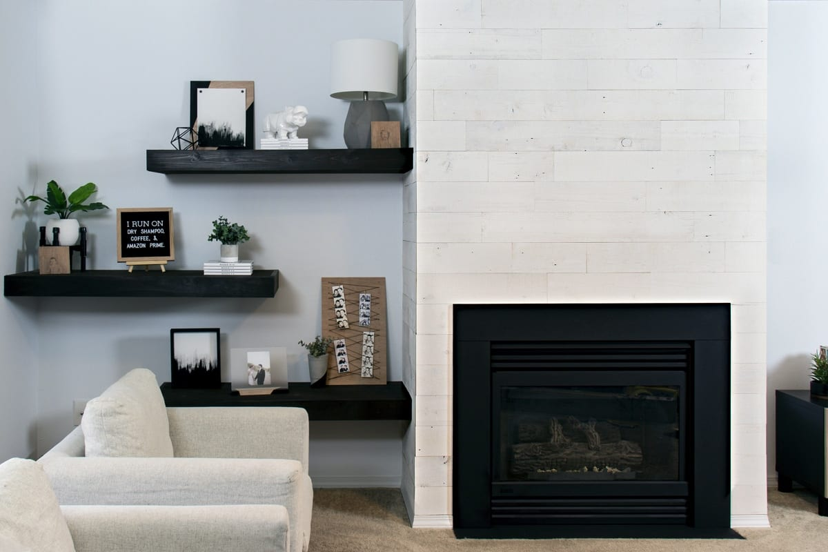 Modern Fireplace Images High Contrast Modern Fireplace Makeover Easy Home Improvement