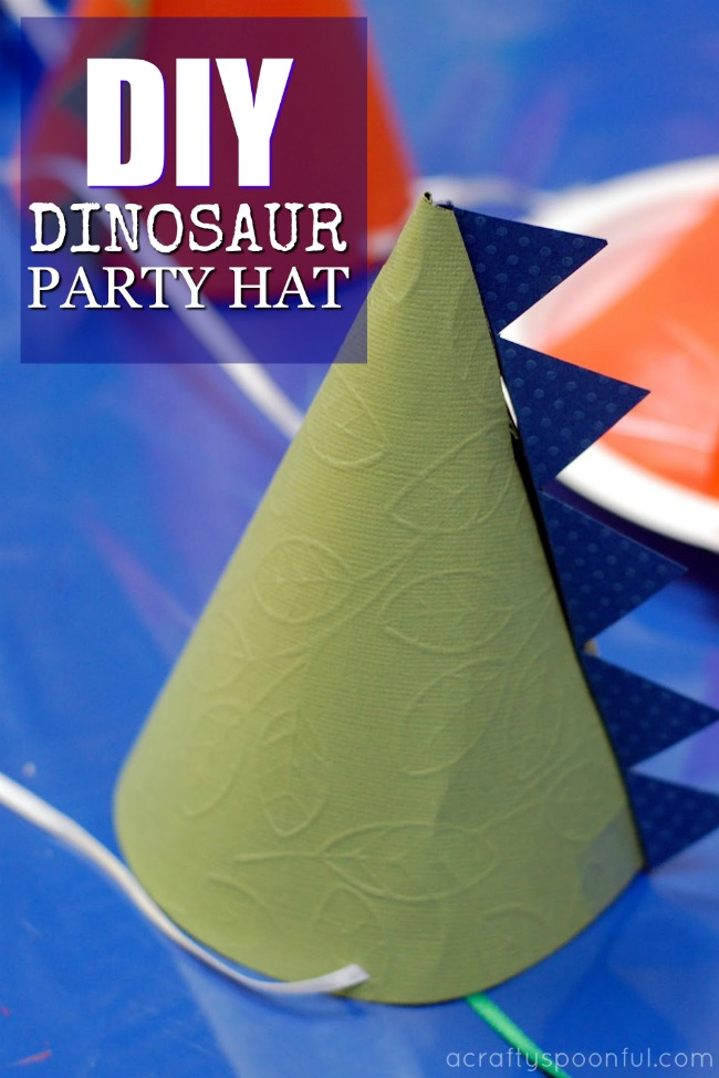 How to Make Dinosaur Party Hats - A Crafty Spoonful