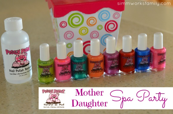 Mother Daughter Piggy Paint Spa Party