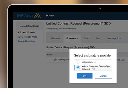 SAP Ariba e-signature integration Adobe Sign