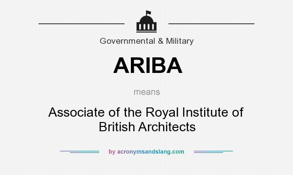 ARIBA - Associate of the Royal Institute of British Architects in