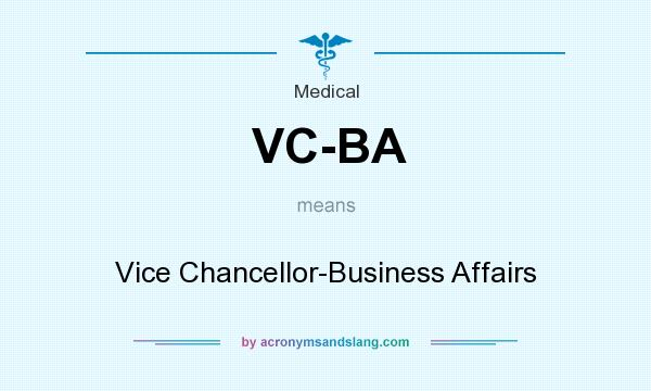 What does VC-BA mean? - Definition of VC-BA - VC-BA stands for Vice - ba stands for
