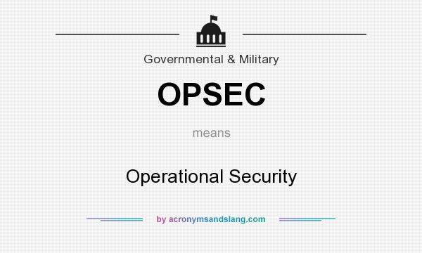OPSEC - Operational Security in Governmental  Military by