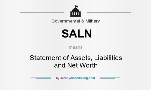 SALN - Statement of Assets, Liabilities and Net Worth in Government