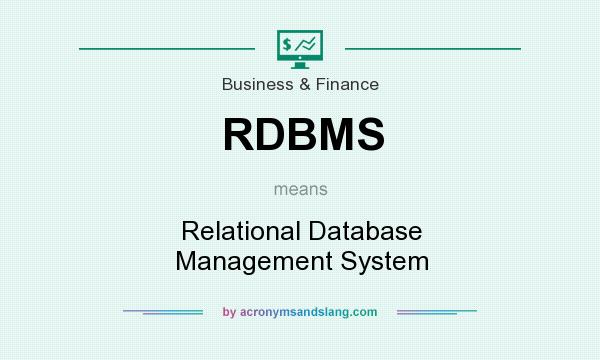 RDBMS - Relational Database Management System in Medical by