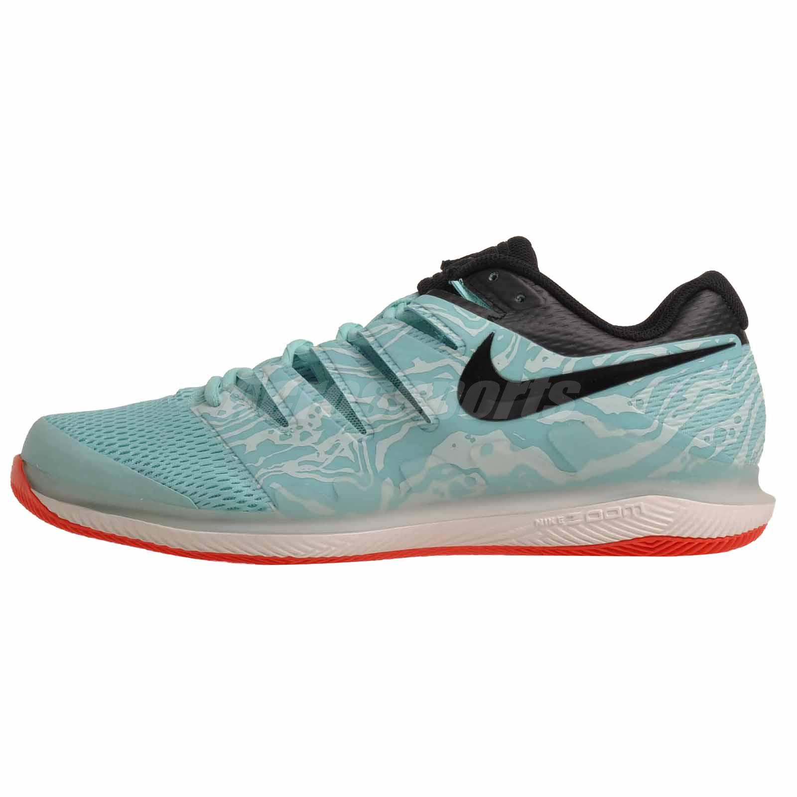 Nike Zoom Grey And Green Details About Nike Air Zoom Vapor X Hc Tennis Mens Shoes Green Black Aa8030 301